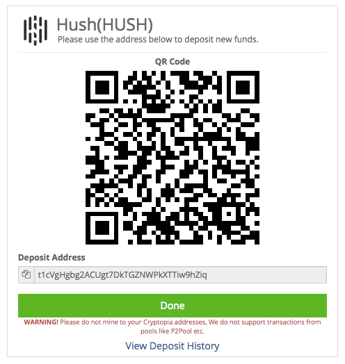 hush cryptocurrency mining