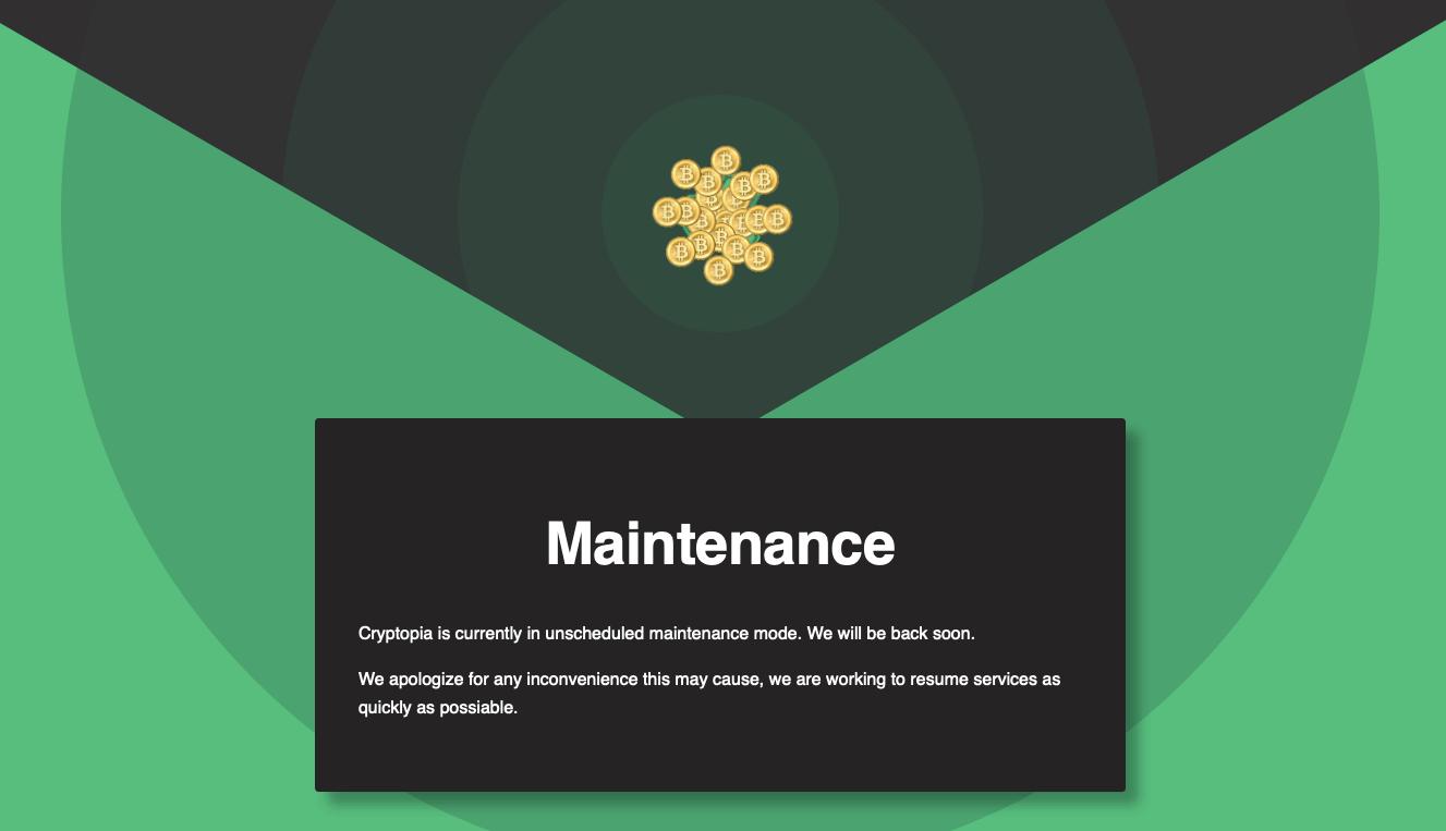 cryptopia-maintenance